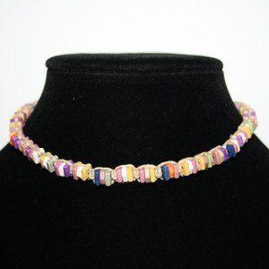 Hemp and shell beach choker necklace